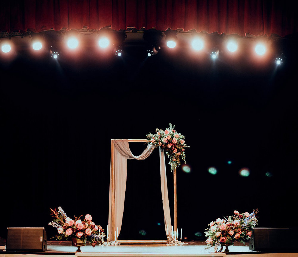 wedding ceremony on a stage