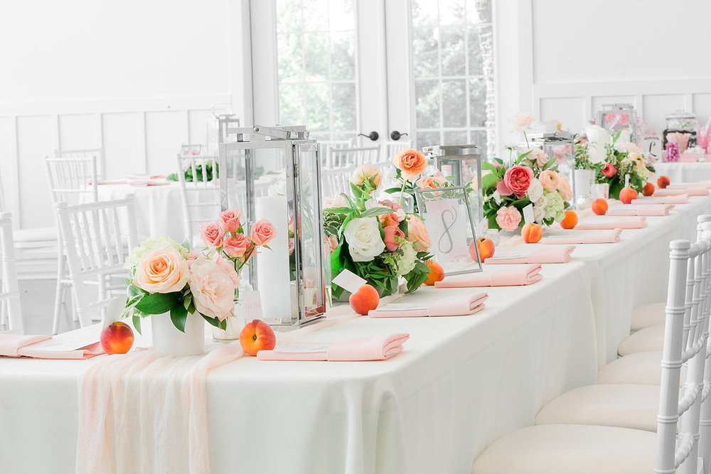 Peach themed southern wedding