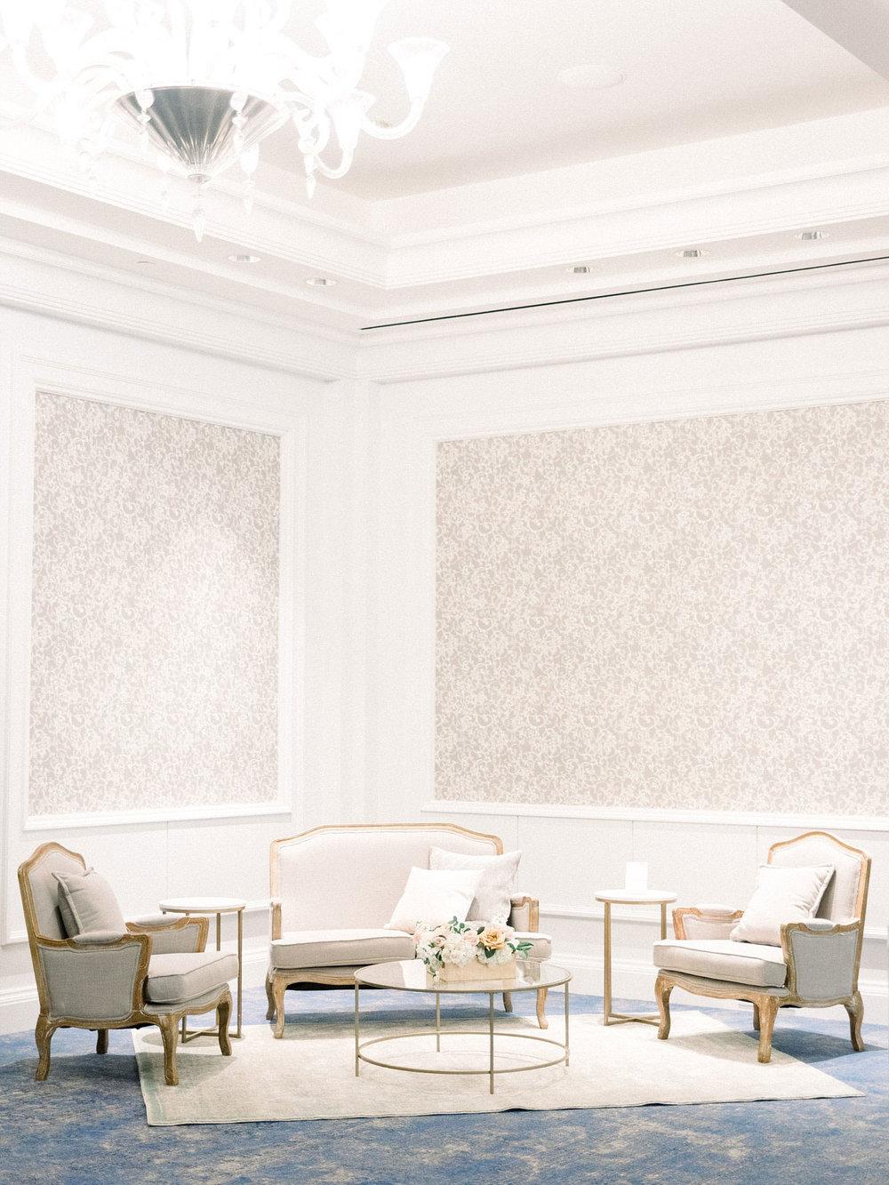 Lounge Set Up at the Ritz Carlton Dallas tX