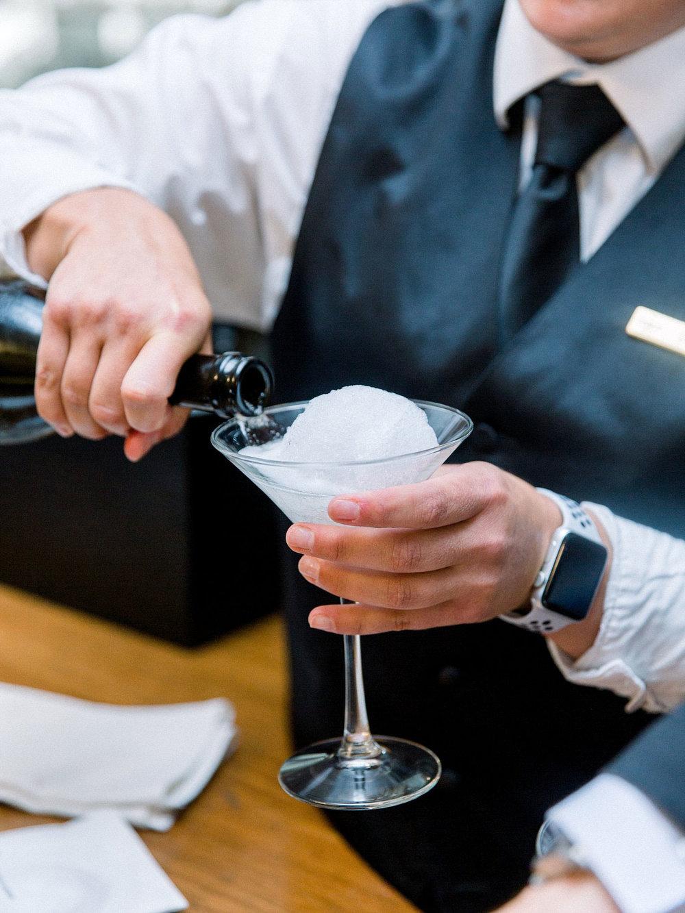 alcohol snow cones wedding