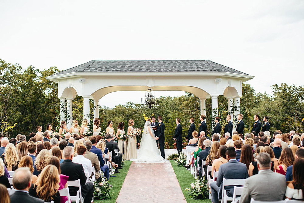 Parker Manor outdoor wedding ceremony in Weatherford TX