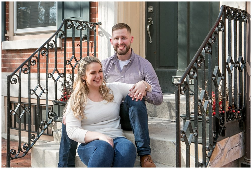Society Hill Engagement Session, Philadelphia wedding Photographer