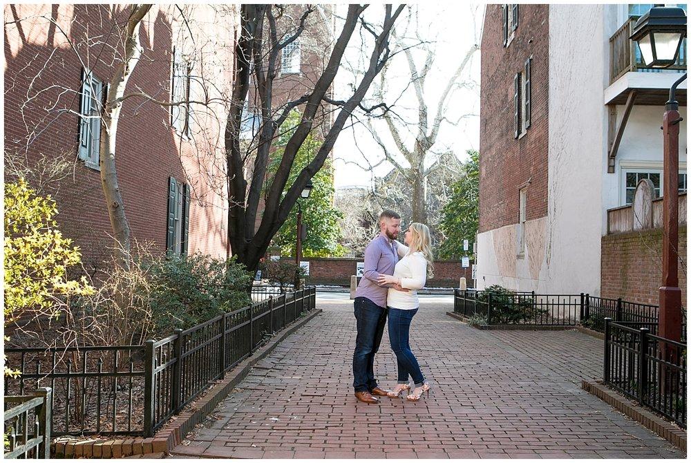 Society Hill Engagement Session, Philadelphia wedding Photographer
