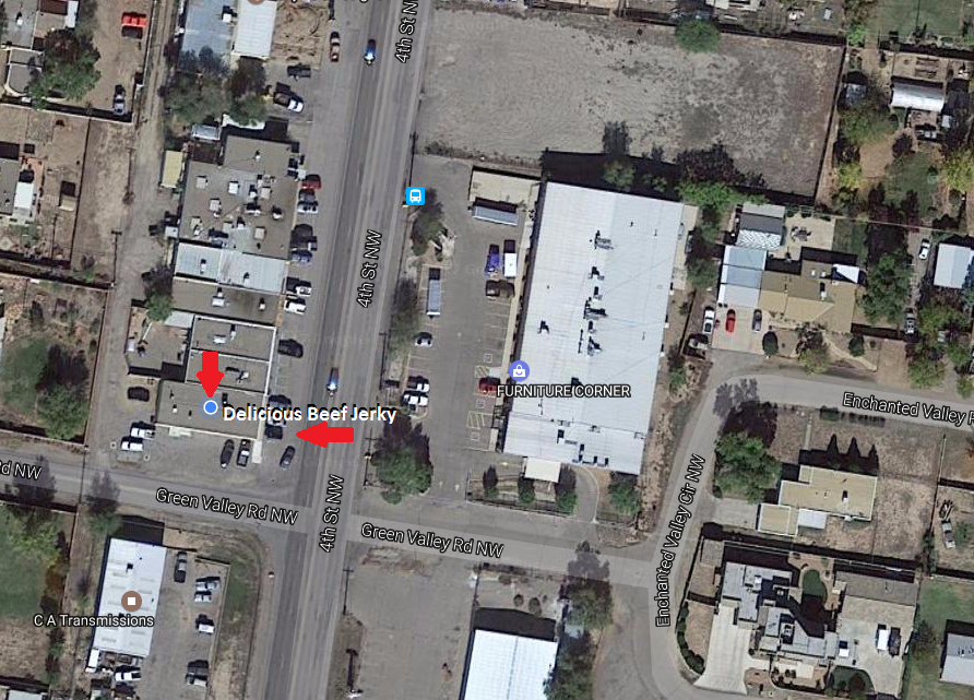 This is a rough Google Maps image of our location on 4th Street in Albuquerque, NM.