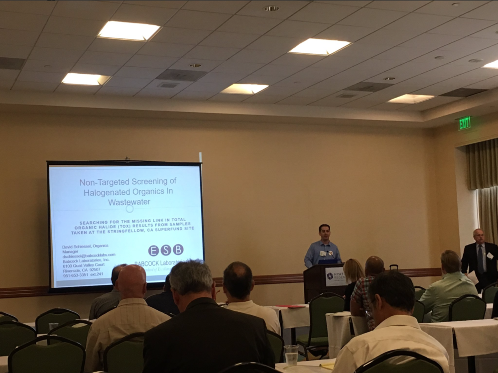 Babcock Labs Senior Chemist David Schiessel presenting at NEMC in 2016