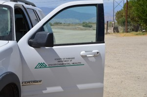 A Riverside County DEH vehicle at one of the project sites