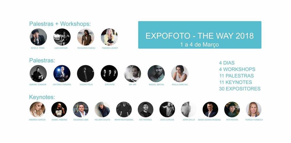 EXPOFOTO - THE WAY 2018 - Santa Maria da Feira - PortugalDEL 1 al 4 de Mayo del 2018