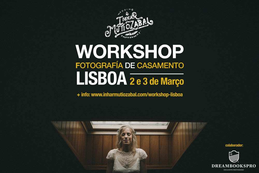 WORKSHOP FOTOGRAFÍA DE CASAMENTO - LISBOA2 e 3 de Março de 2019