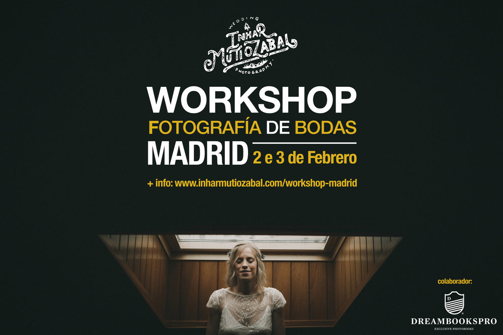 WORKSHOP FOTOGRAFÍA DE BODA - MADRID2 e 3 de Febrero de 2019