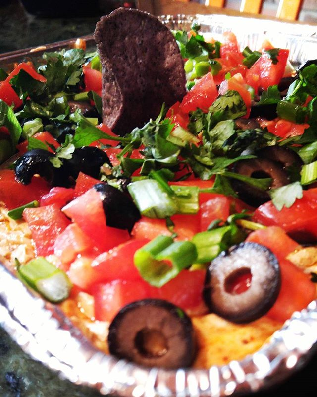 #superbowl #sunday wouldn't be #complete without #touchdown #tacodip #vegan #style #beans #sourcream #seasoning #olives #cilantro #vegansnack #vegans #vegansofig #eatthis #snack #dip #food #veganliving #veganparty #partyfood #yum #stlvegan #stl #stlouis