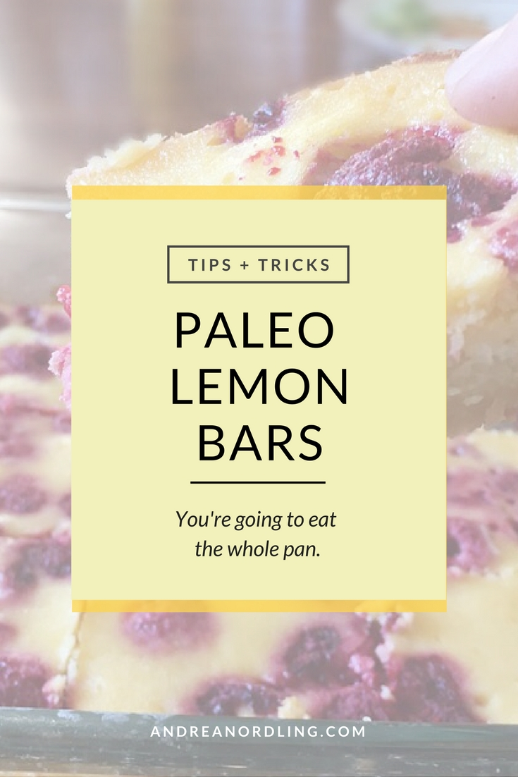 Paleo Lemon Bars: You're going to eat the whole pan. Immediately.
