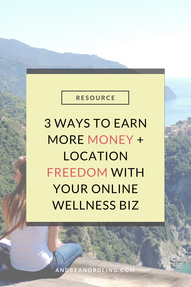 Learn the 3 income streams your online wellness business NEEDS for sustainable income and location independence. (Take it from me...I did it all wrong in the beginning!) Pin for later!