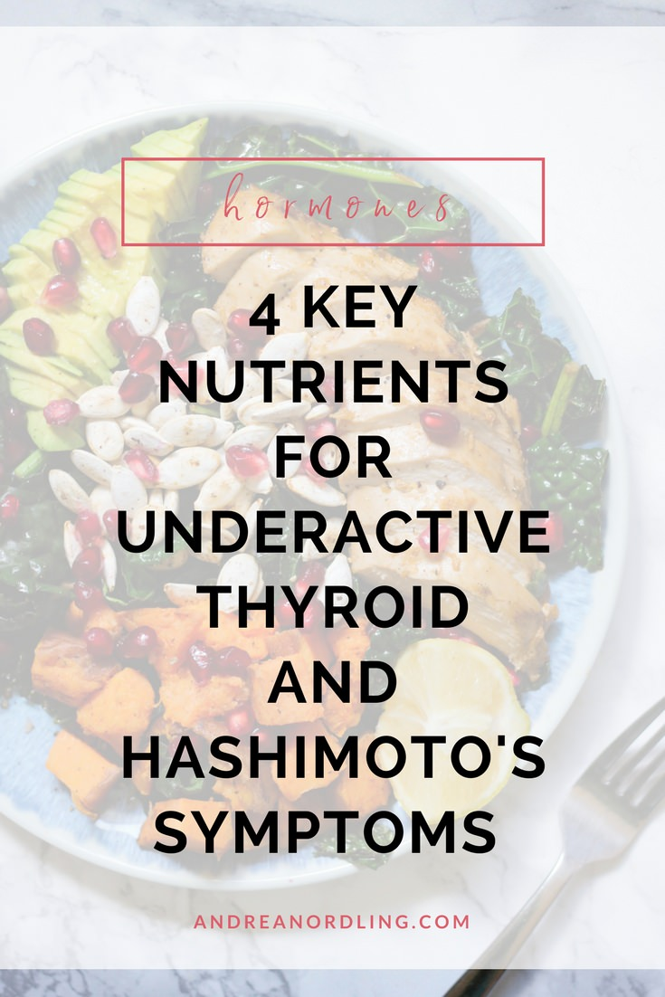 [Free Thyroid Resource Library] When your thyroid is on strike, you MUST fill up on these 4 thyroid-supporting and hormone-balancing nutrients in addition to the other treatment you're receiving. (Which might surprise you!) Pin for later!