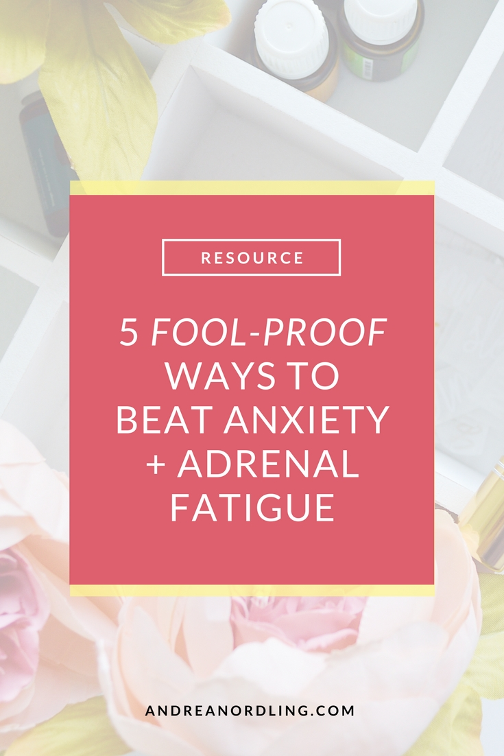 5 juicy strategies you need NOW for dealing with adrenal fatigue, crippling anxiety, overwhelming stress, zero sleep, and crappy digestion. PLUS you can sign up for our free masterclass with the best natural remedies to all those symptoms. >>Register now