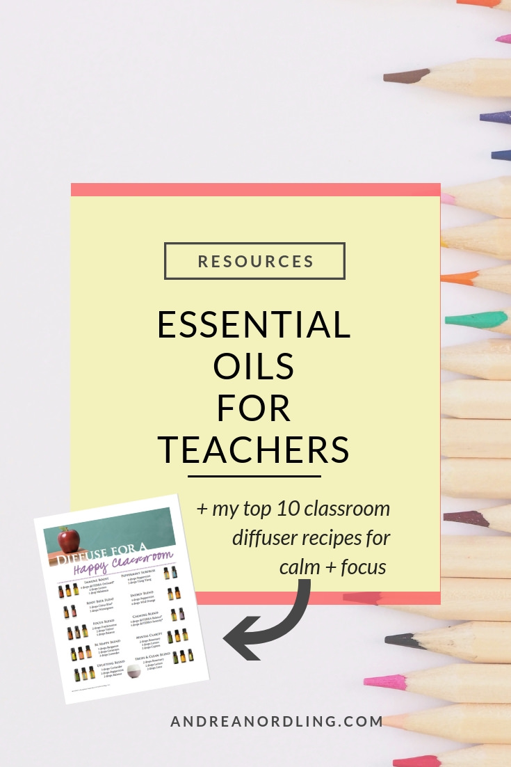 Teacher friends, read this post for the easiest essential oil tips that will help support YOUR health (and classroom) for your most zen year, yet! And, of course, pin for later…