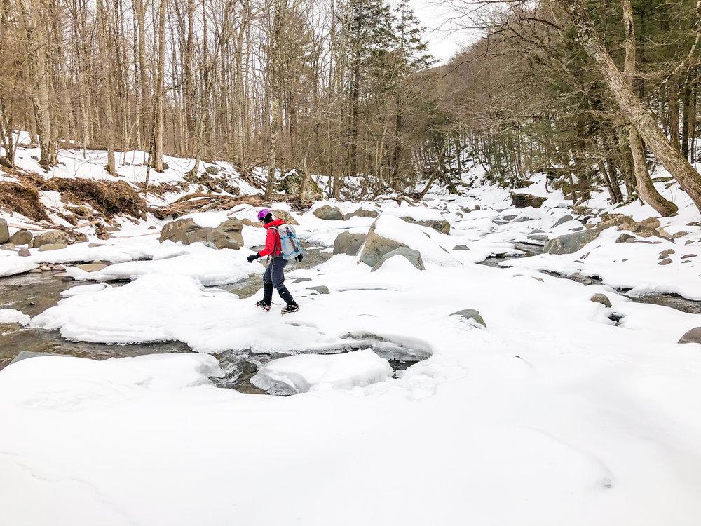 Crossing Kaaterskill Creek.