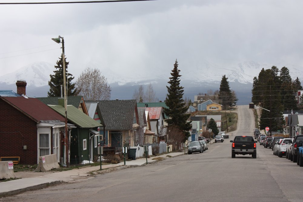 Leadville's view of Sawatch Range