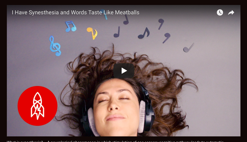 Watch a video on synesthesia