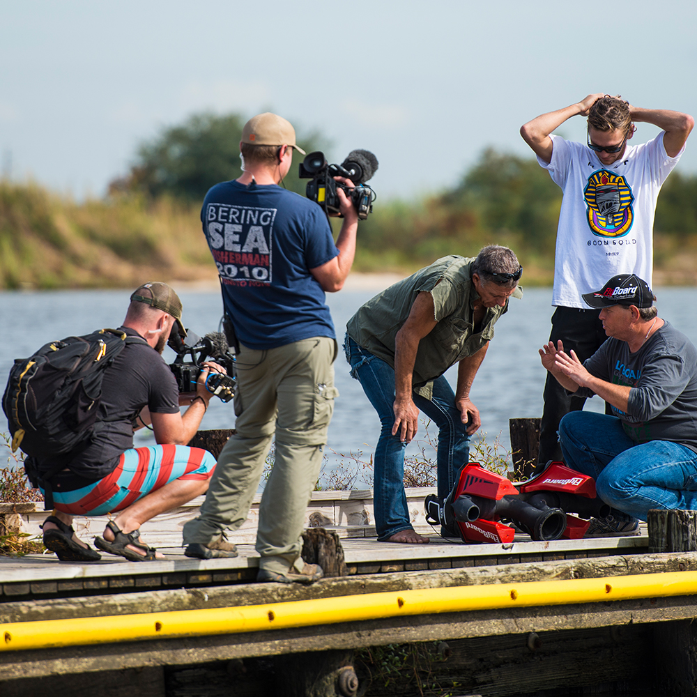 Filming Ax Men, New Orleans, LA