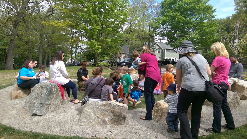 At the Children's Playspace at Holloran Park in Stoughton, the stone performance circle gets used by the librarian's reading program at least once a week.