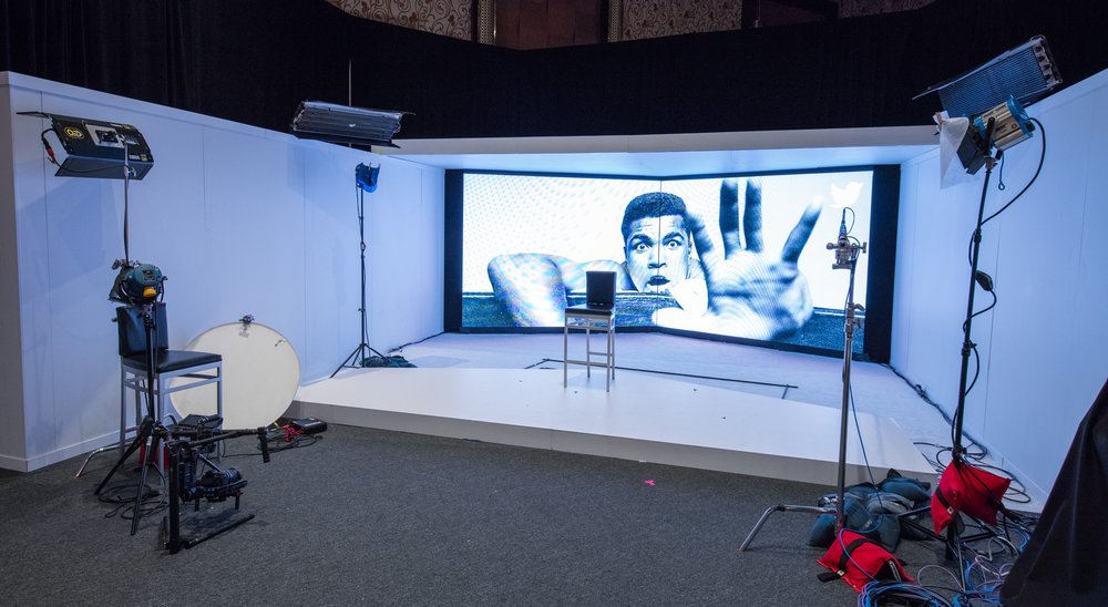 The Live Studio space was used to interview Twitter Influencers such as Rick Ross, Joe Montana, and Jayanta Jenkins.       All photos were taken by John Carmichael.