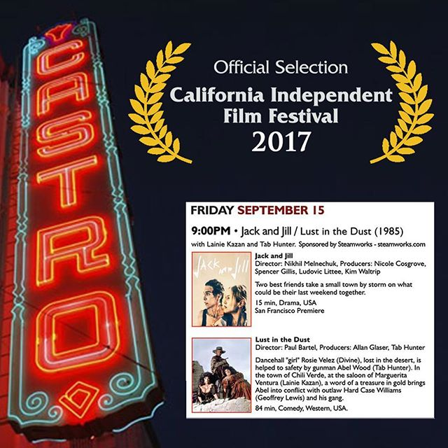 #JackandJill's San Francisco Premiere is 9pm Friday Sept. 15th at the historic @castrotheatre as part of the 20th Annual California Independent Film Festival! #jackandjillarecoming #caiff #castrotheater womeninfilm