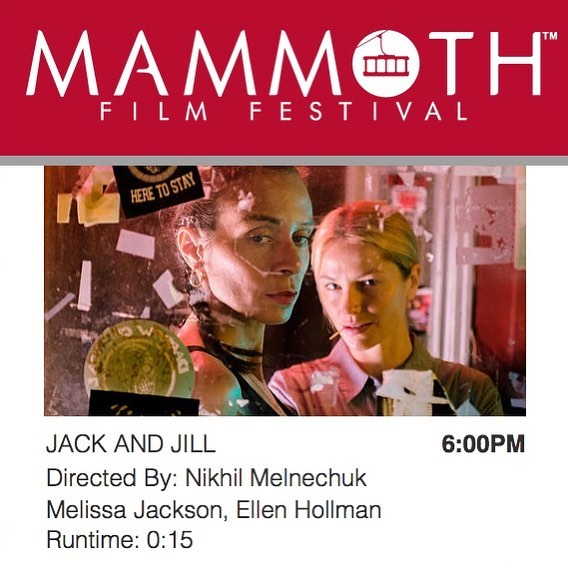 #JackandJill is an #OfficialSelection at the inaugural @mammothfilmfestival! We screen 6pm Saturday, Feb. 10th in the 'Drama Shorts' block at #minaretcinemas. Thanks to @tannerbeard @_theodumont @tomikm, and Nicole Castro! #MammothFF #womeninfilm #jackandjillarecoming
