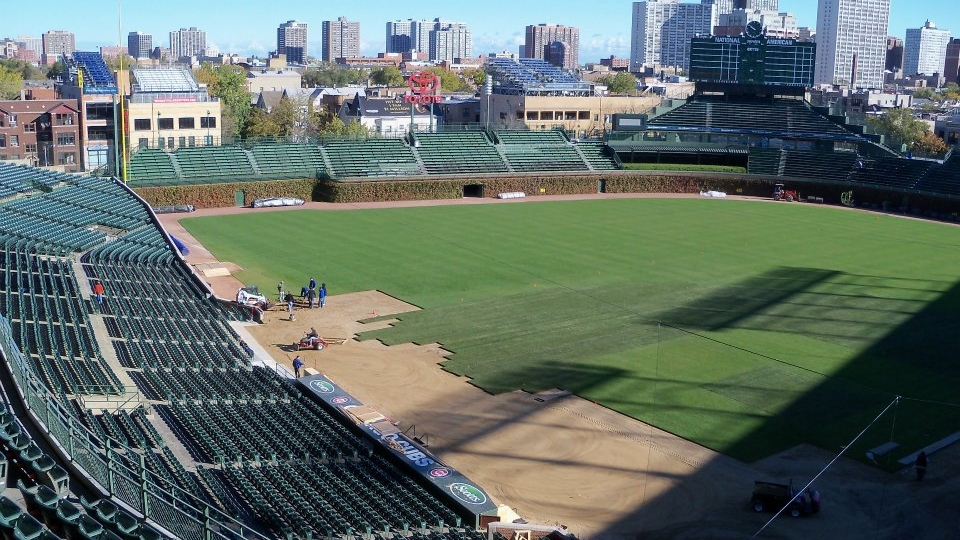 Athletic turf install, Chicago
