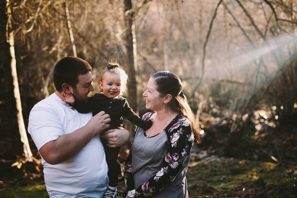 Golden Hour Documentary Family Portrait Tuolumne County
