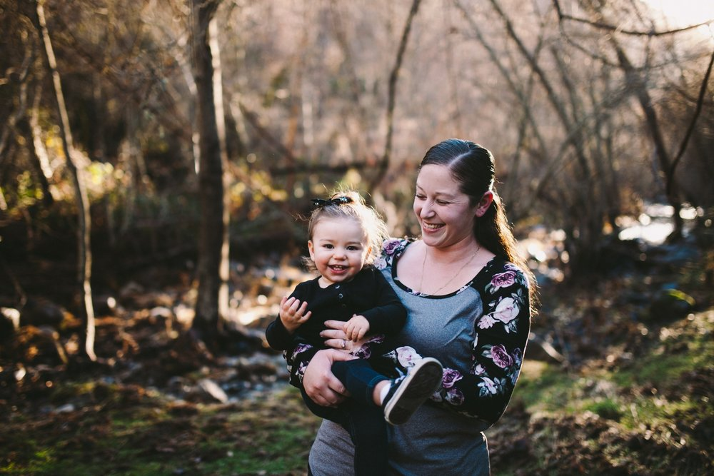 Mother & Daughter Family Photography Session in Tuolumne County