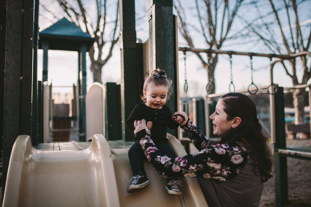 Northern California Documentary Family Photography at a Play Park