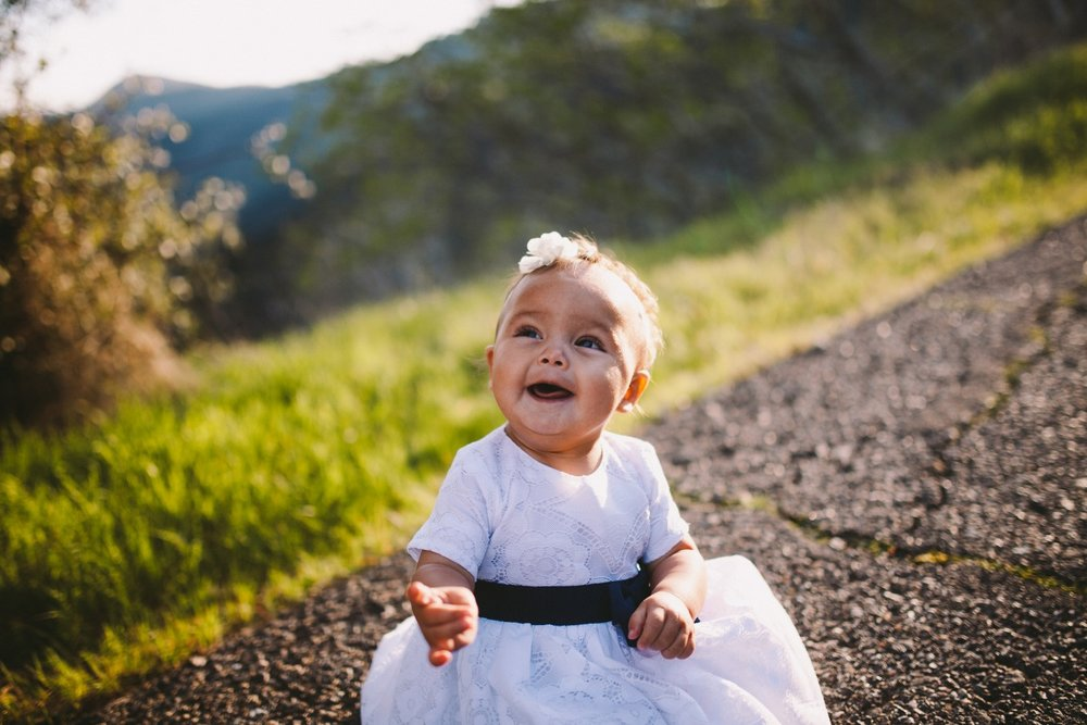 Laughing Toddler Portrait Sierra Nevada Mountain Foothills Family Portrait Photograph