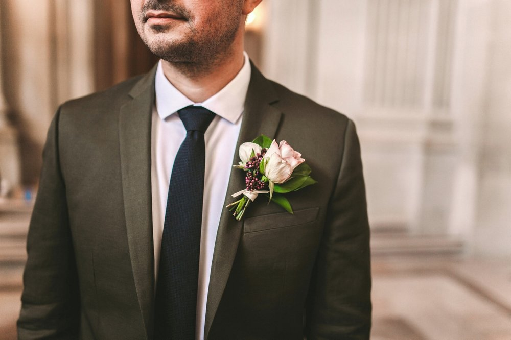 H&M Dark Green Cotton Groom Suit Wedding