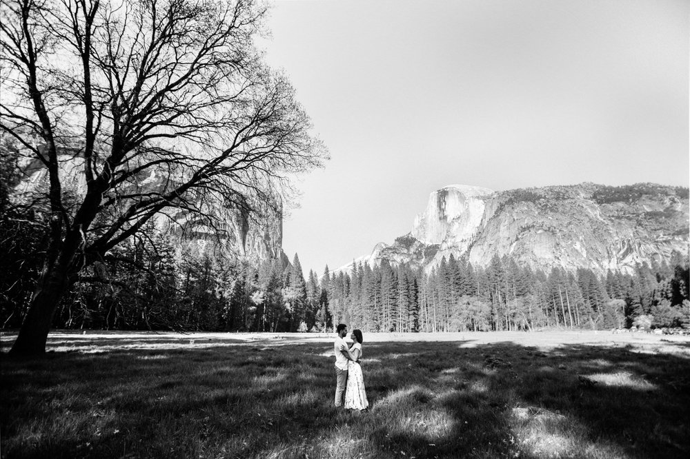 Stoneman Meadow & Half Dome Engagement Shoot