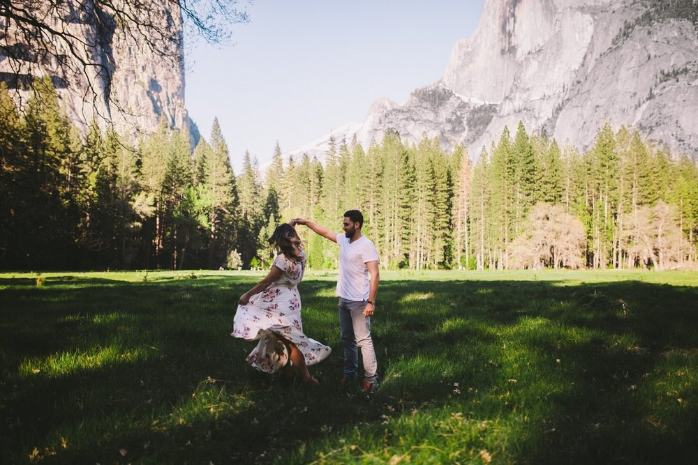 Half Dome Engagement Photos