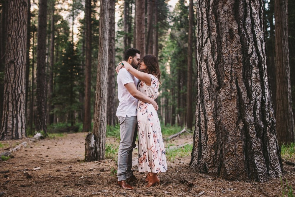 Couple in Ponderosa Pine Woodland Yosemite