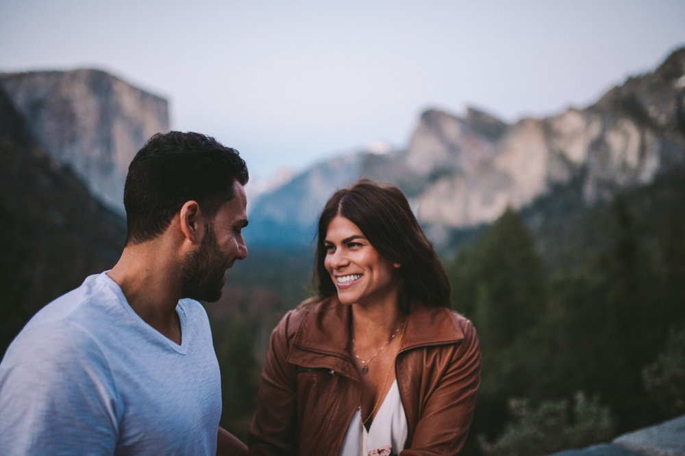 Yosemite at Dusk Engagement Shoot