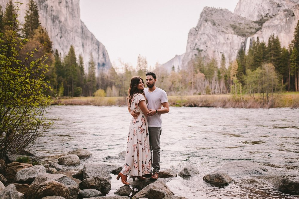 Valley View Yosemite Engagement Shoot
