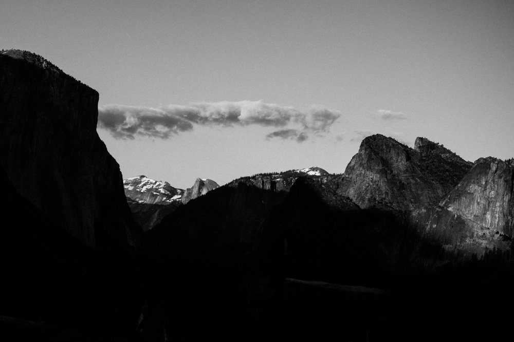 Tunnel View B&W