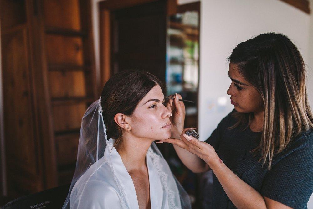 Ashley Rose Bias Wedding Makeup Artist MUA Real Wedding