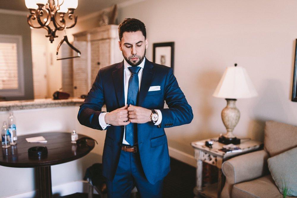 Ermenegildo Zegna Navy Blue Groom's Suit Real Wedding