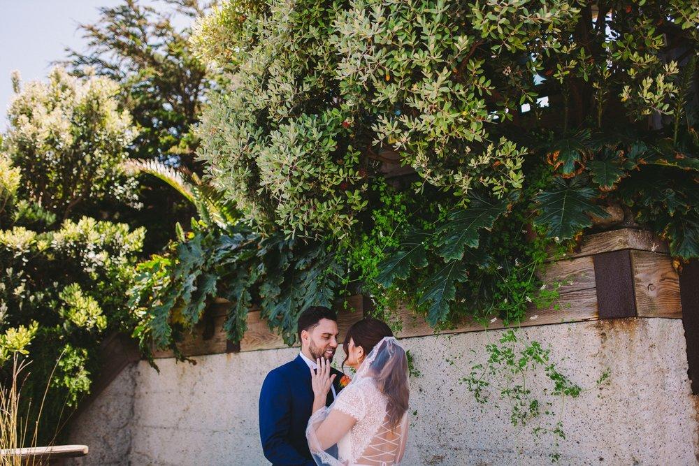 Pacifica Modern Jewish Wedding First Look