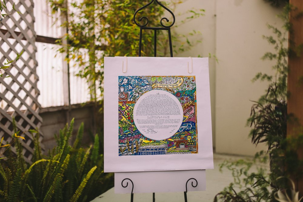 Beautiful colouful Signed Ketubah at Shelldance Orchid Gardens