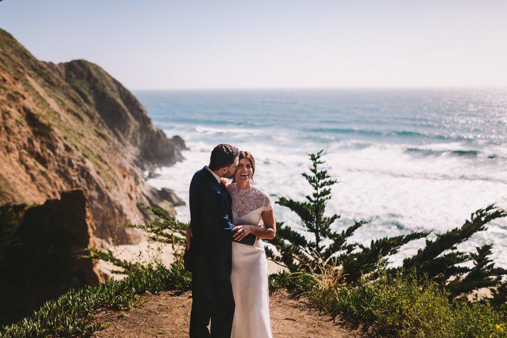 Gray Whale's Cove Wedding Portraits Half Moon Bay