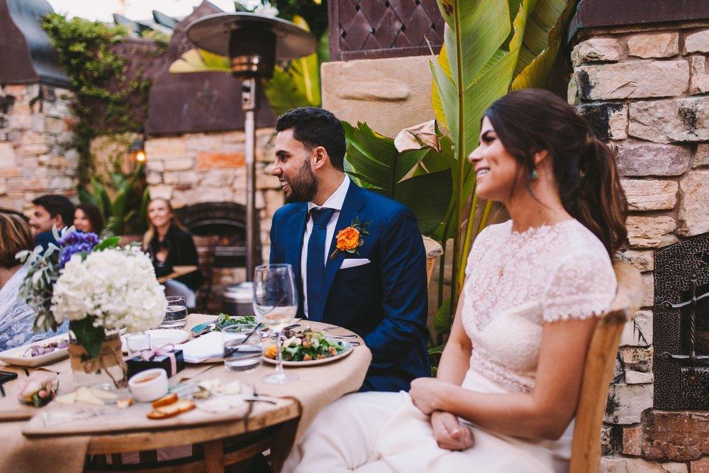 It's Italia Half Moon Bay Wedding Reception Speeches