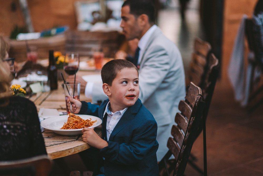 t's Italia Intimate Restaurant Wedding Reception Spaghetti