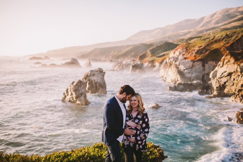 Garrapata State Park Pregnancy Announcement Session