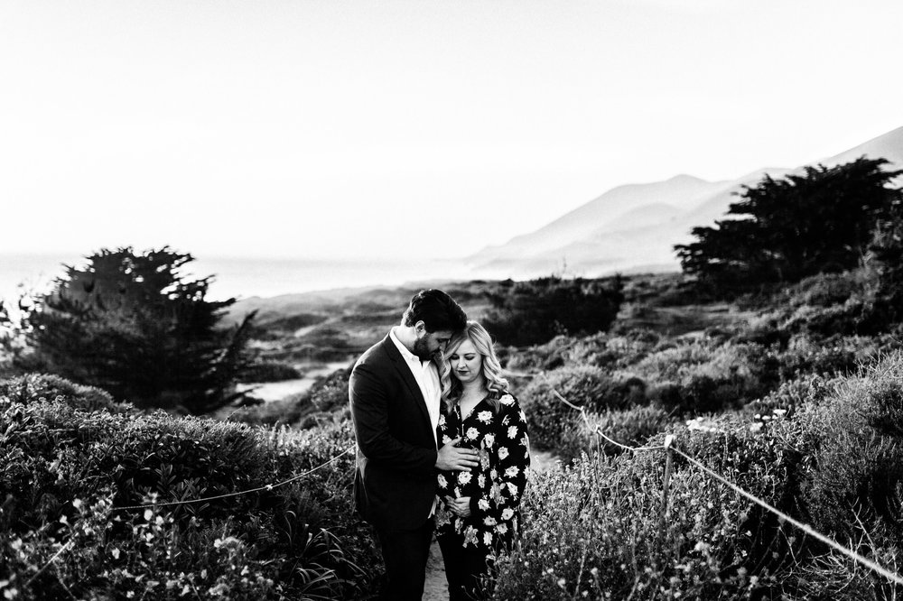 Garrapata State Park Bluff Trail Couple Pregnancy Photography Session