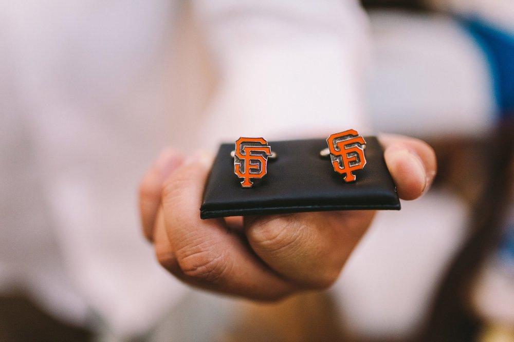 San Francisco Giants Groom's Wedding Cufflinks