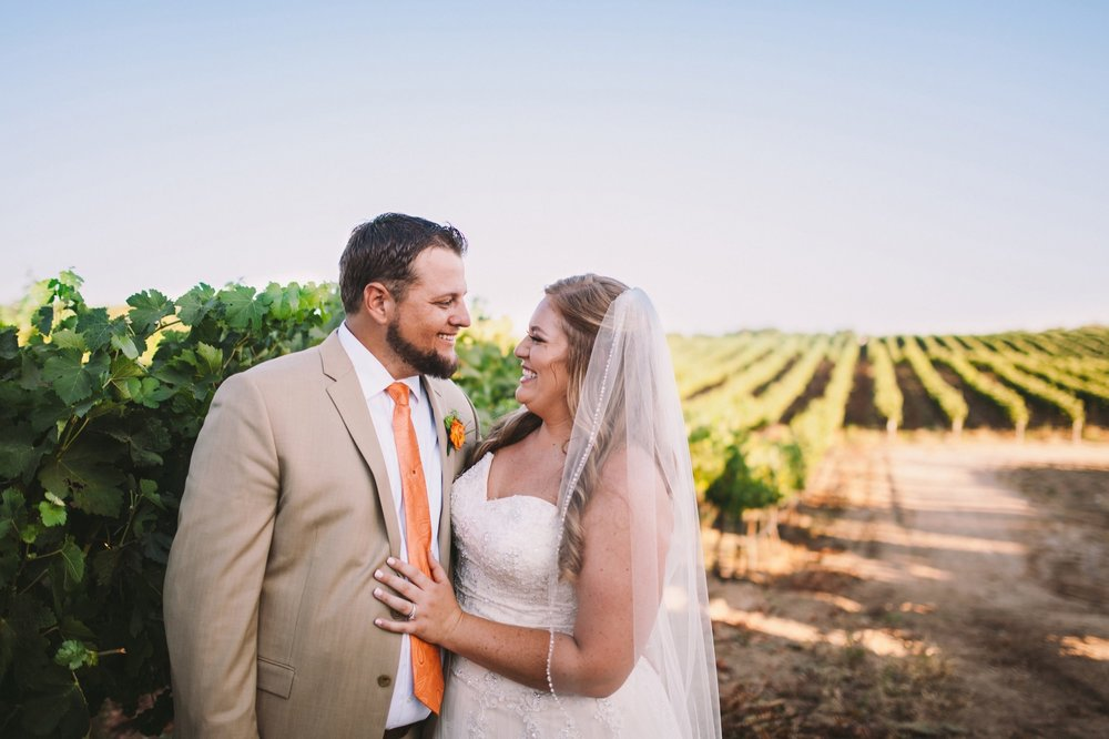 Toca Madera Winery Bride & Groom Portraits in Vineyards
